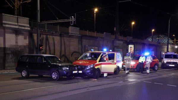 Unfall auf der Antonstraße Foto: Roland Halkasch