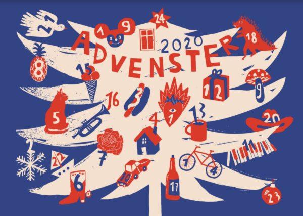 Das diesjährige ADVENSTER-Motiv hat die Neustädter Künstlerin Annett Bauer (MUAH) gestaltet.