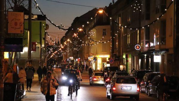 Weihnachtsbeleuchtung in der Dresdner Neustadt