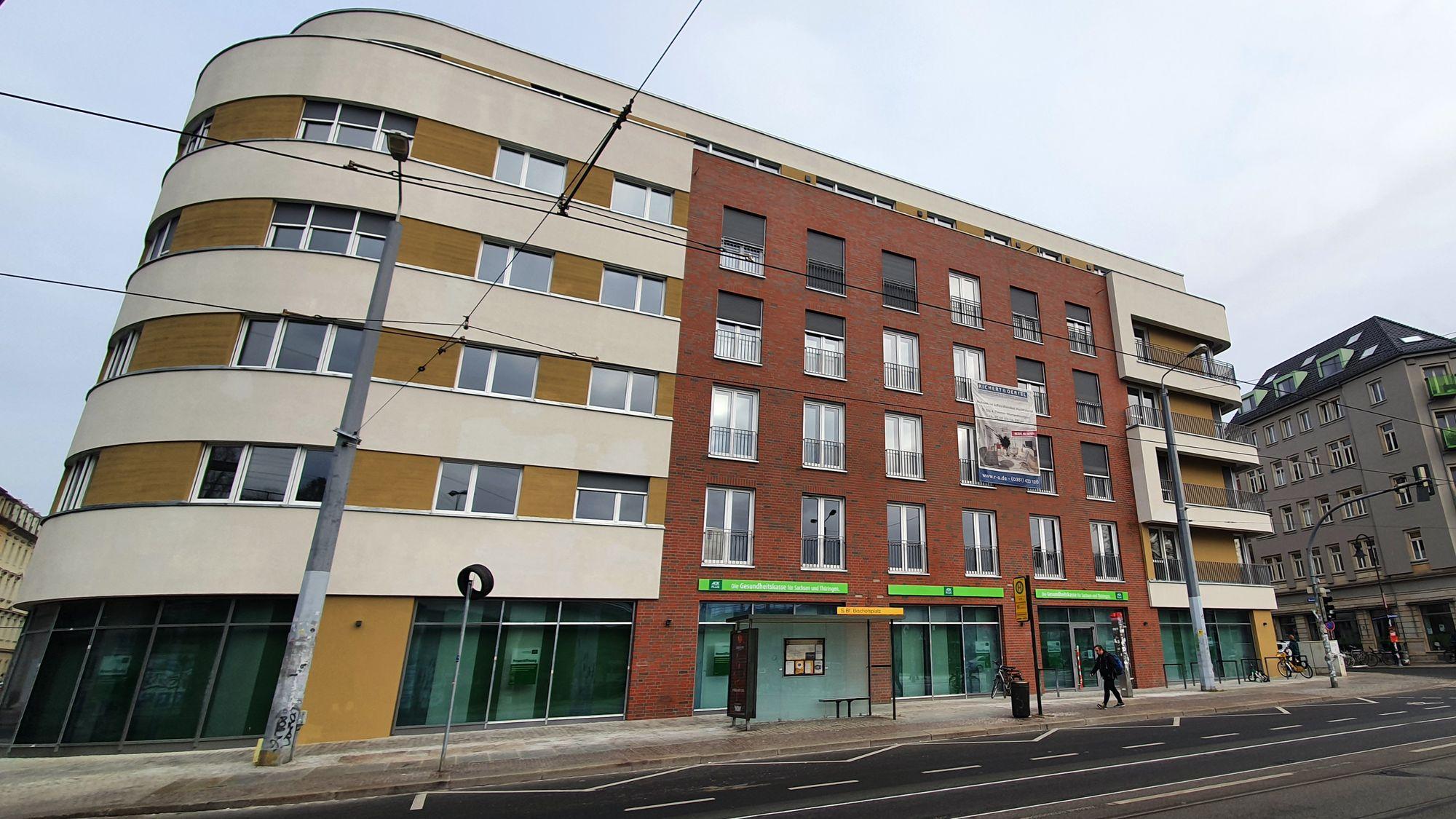 Neuer Mieter im Neubau am Bischofsplatz - die AOK