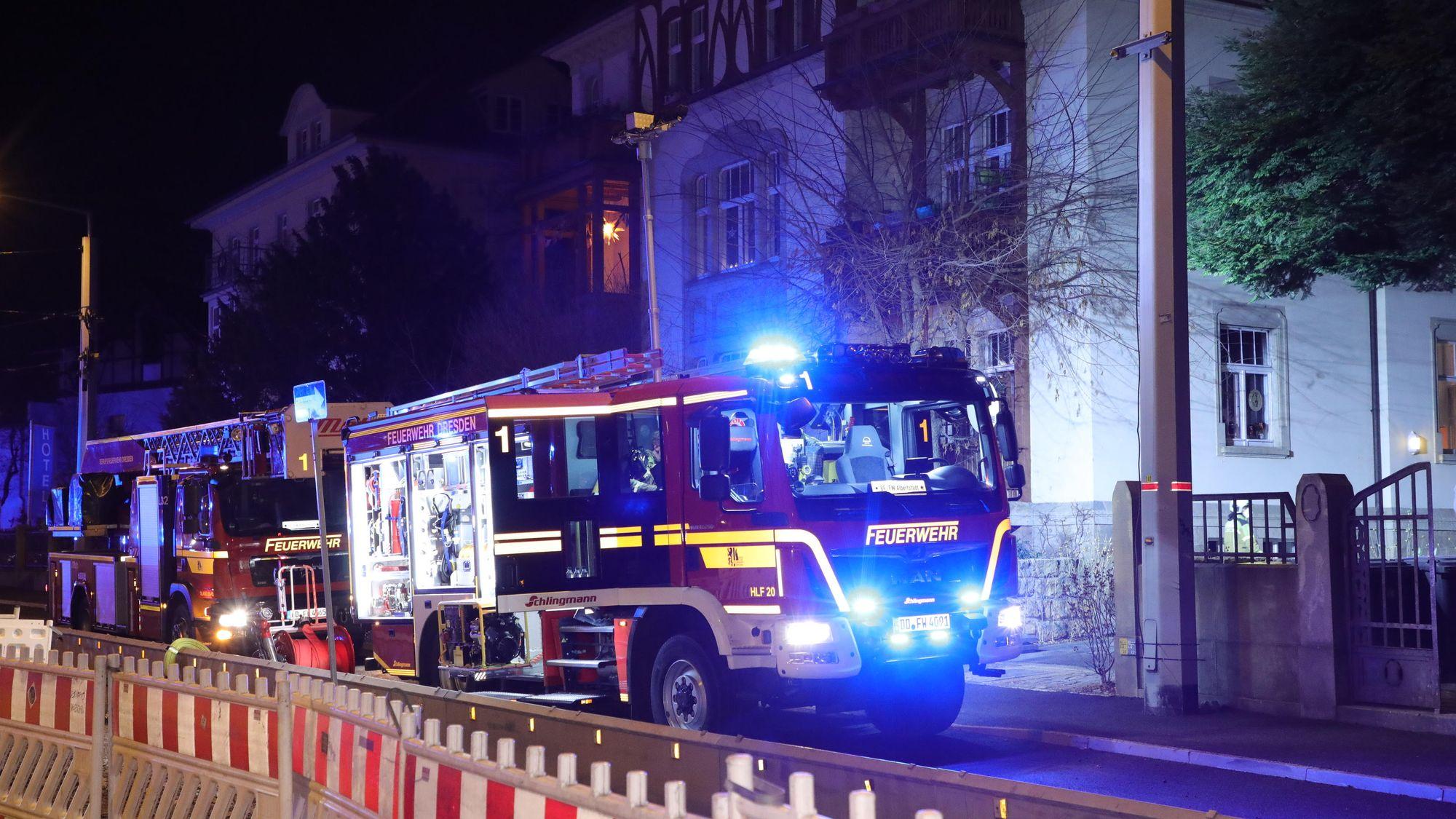 Feuerwehreinsatz an der Bautzner Straße - Foto: Roland Halkasch