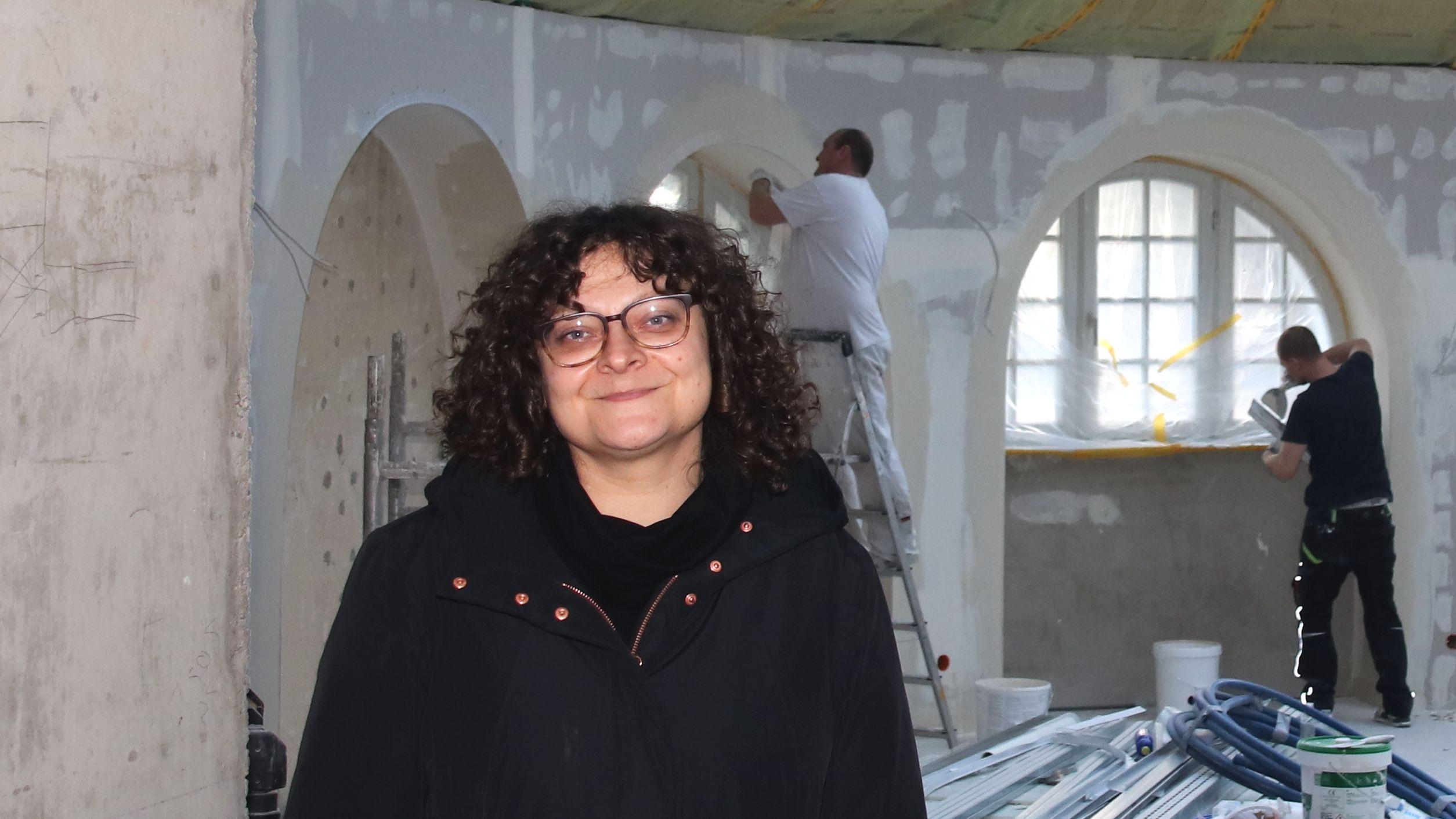 Naturfriseurin Juliette Beke in ihrem künftigen Zero-Waste-Salon
