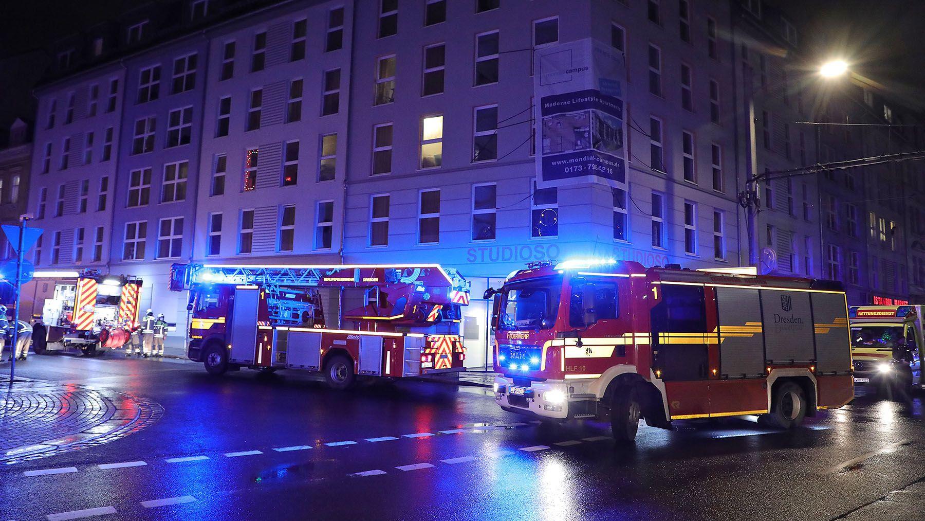 Feuerwehreinsatz auf der Bautzner Straße - Foto: Roland Halkasch