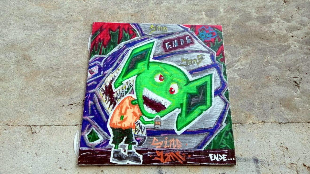 Grinch in Fliesenform