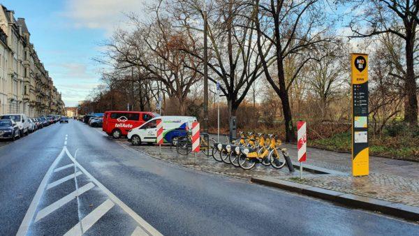 Mobilitätspunkt am Bischofsweg.