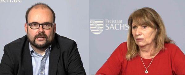 Kultusminister Christian Piwarz und Gesundheitsministerin Petra Köpping