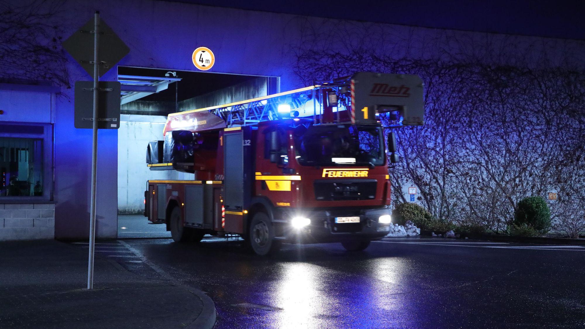 Feuerwehreinsatz im Gefängnis