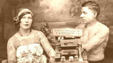 Tätowierte Anfang des 20. Jahrhunderts