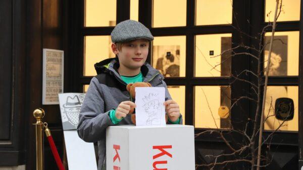 Adam warf als Erster eine Zeichnung ein.