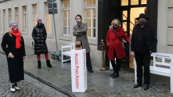 Sandra Coym, Anwohnerin Katja Mulansky, Stephan Herz, Katrin Leliveld, Holger John