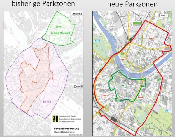 Gebührenpflichtige Parkzonen