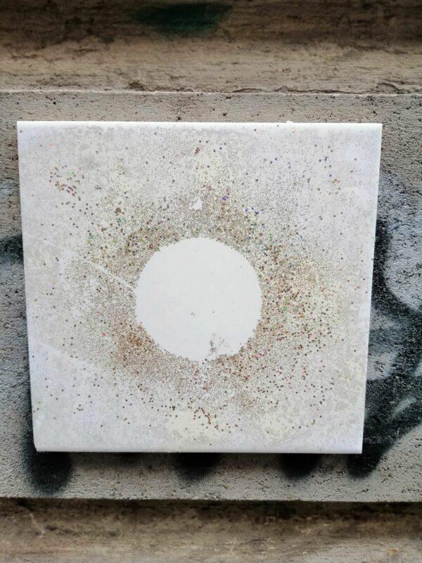 Weiß Kreis am Hebedas