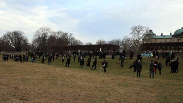 Rund 200 Leute waren zu der Demo gekommen.