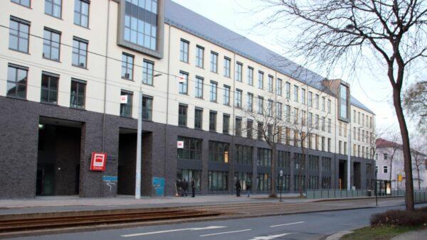 Der Büroneubau an der Großenhainer Straße 5 bis 7.