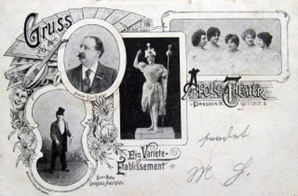Apollo-Theater auf der Görlitzer - Postkarte von 1902