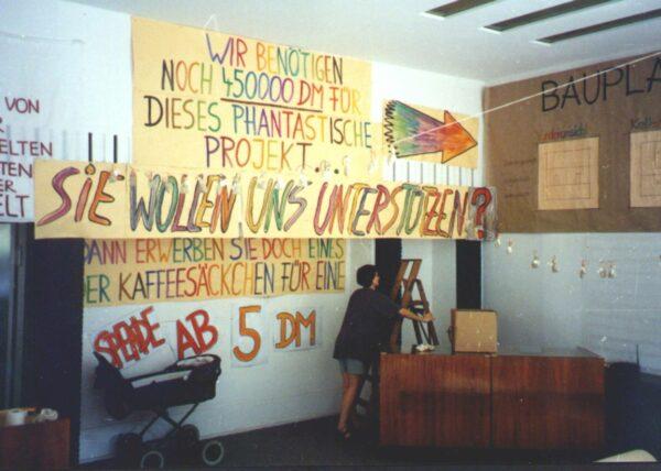 Der Vorläufer des Ladencafés beim Katholikentag 1994. Foto: privat