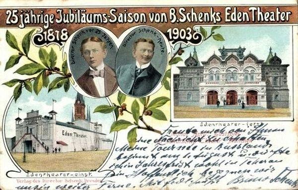 Postkarte des Eden-Theaters