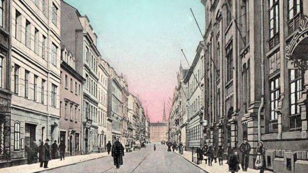 Görlitzer Straße Anfang des 20. Jahrhunderts
