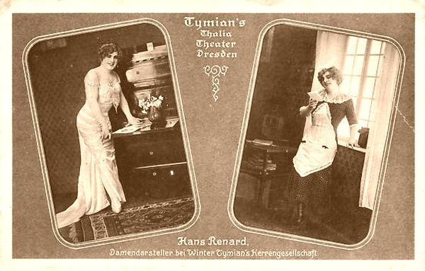 Damendarsteller Hans Renard - Postkarte von 1910
