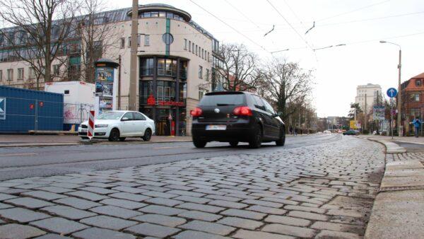 Der Ausbau der Königsbrücker Straße kommt nicht voran.