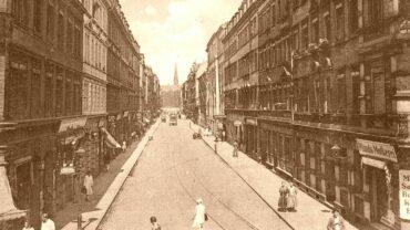 Blick in die Görlitzer Straße - Postkarte von 1932