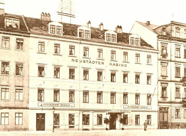 Neustädter Kasino - Postkarte von 1902