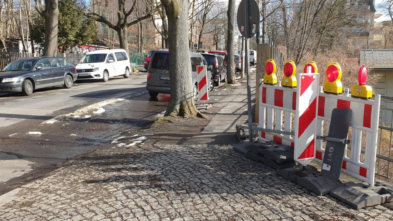 Ab Montag werden die Fußwege repariert, die Jäger- wird zur Einbahnstraße.