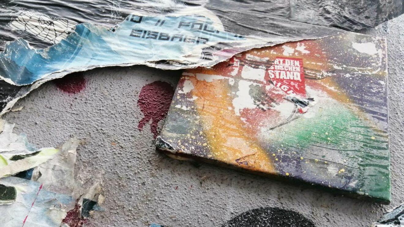 Multi-Color-Fliese an der Böhmischen Straße