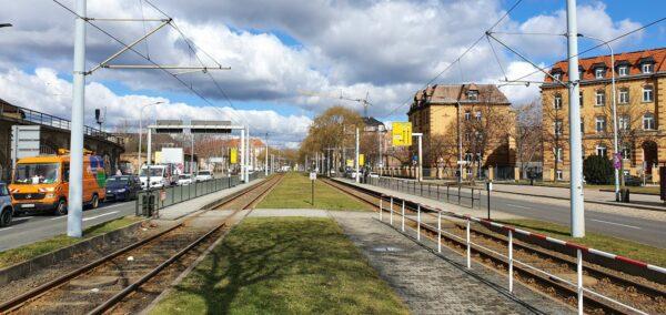Müssen am Wochenende ohne Bahn auskommen - Großenhainer und Hansastraße