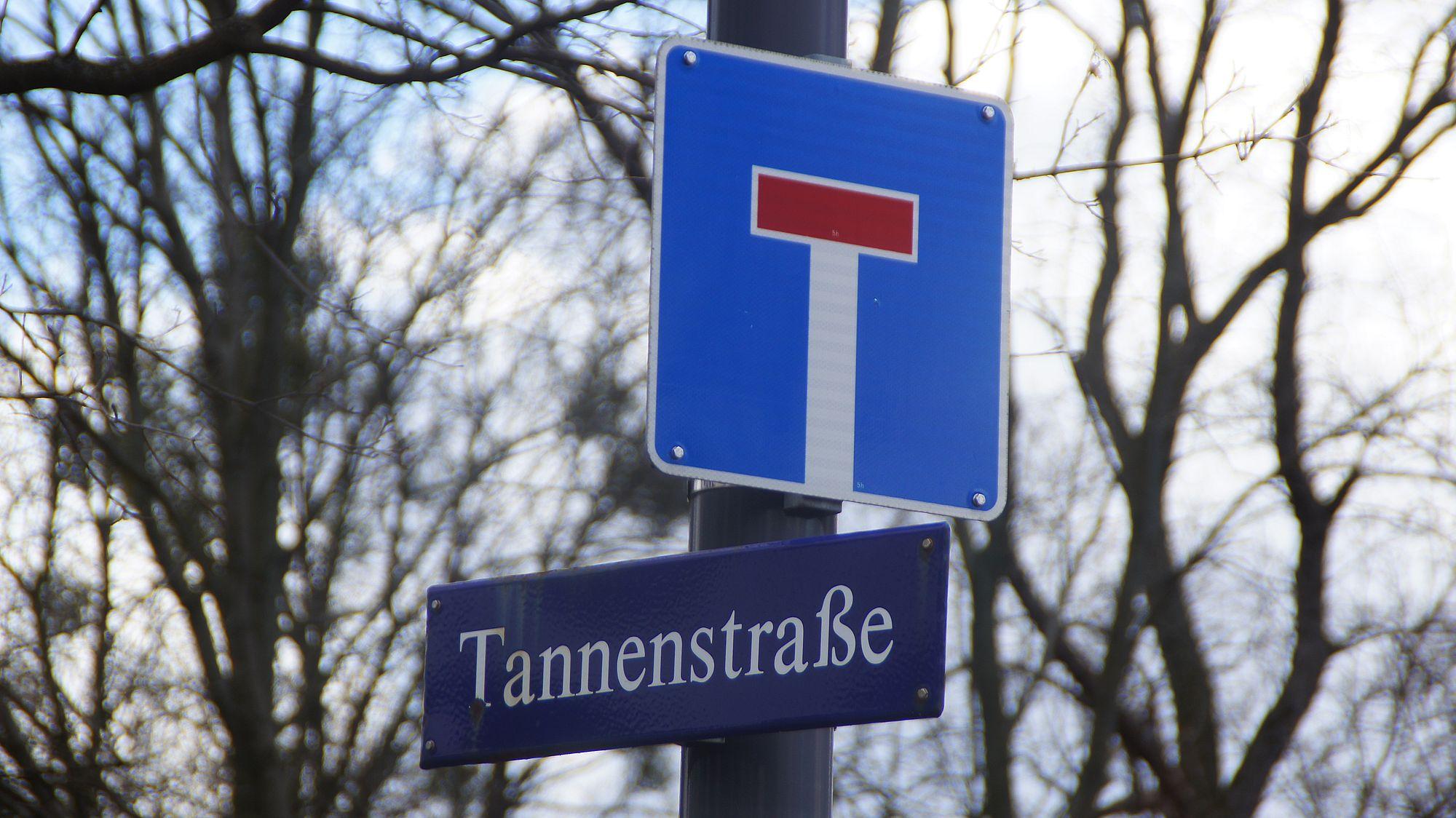 T wie Tannenstraße. Foto: Philine