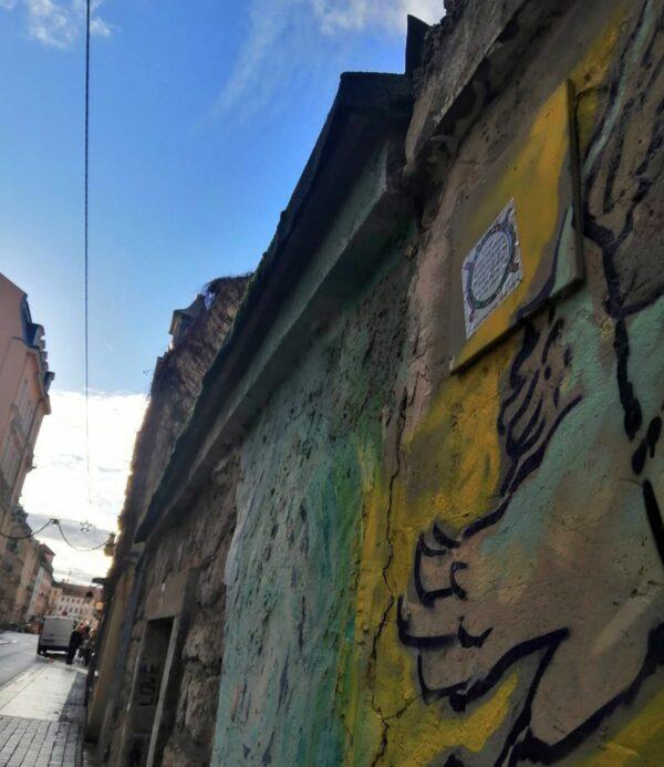 Fliesenkunst in der Martin-Luther-Straße