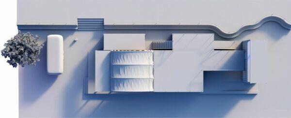 Draufsicht. 3D Modell: Euler Void