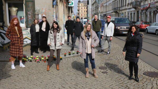 Händlerinnen und Händler der Böhmischen Straße.