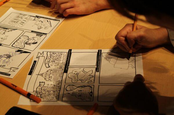 COMICS ZEICHNEN Workshop mit 123Comics. Foto: PR