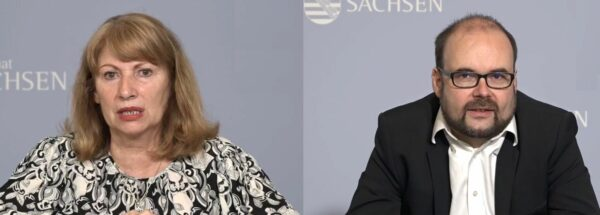 Gesundheitsministerin Petra Köpping (SPD) und Kultusminister Christian Piwarz (CDU)