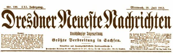 Dresdner Neueste Nachrichten von 1913