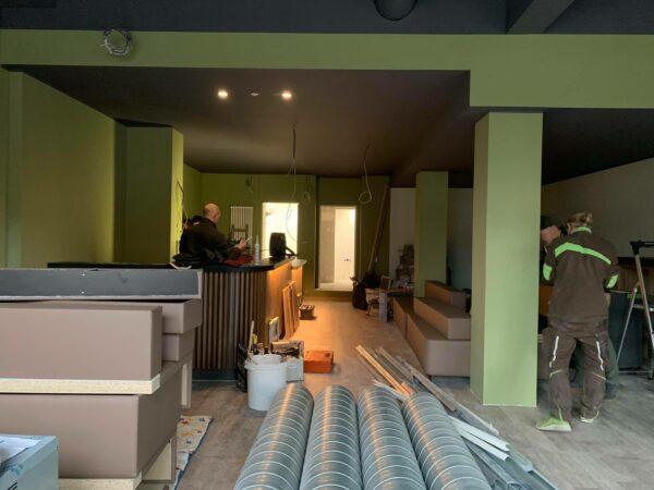 Während der Umbauarbeiten.