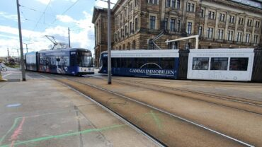 Am Wochenende biegen alle Bahnen am Carolaplatz ab.