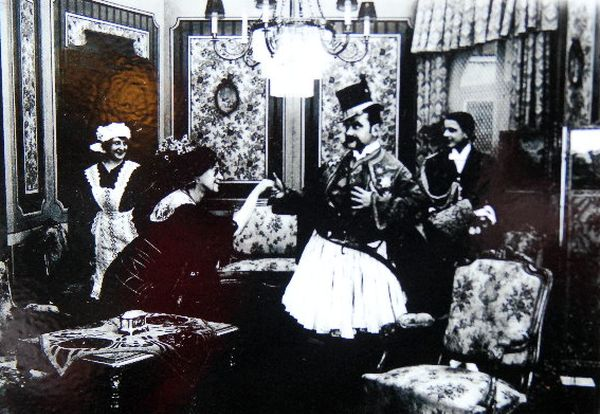 Szene aus einem Kinofilm aus dem Jahre 1913