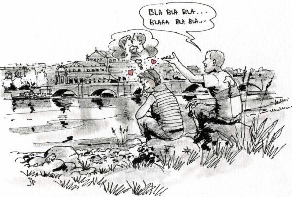 L'amour compliqué - Liebe zu Deutschen ist nicht so einfach. Zeichnung: Jean-Pierre Deruelles