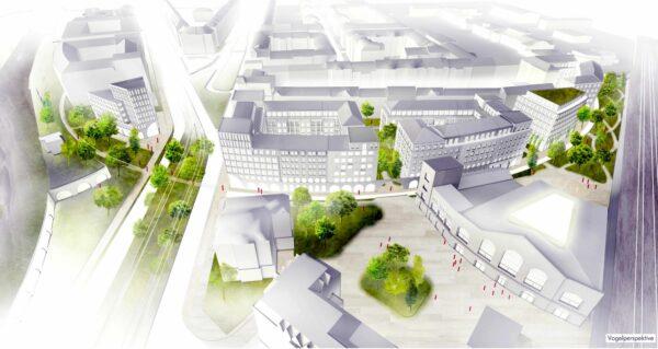 Entwurf für das Bogenviertel - TSSB-Architekten