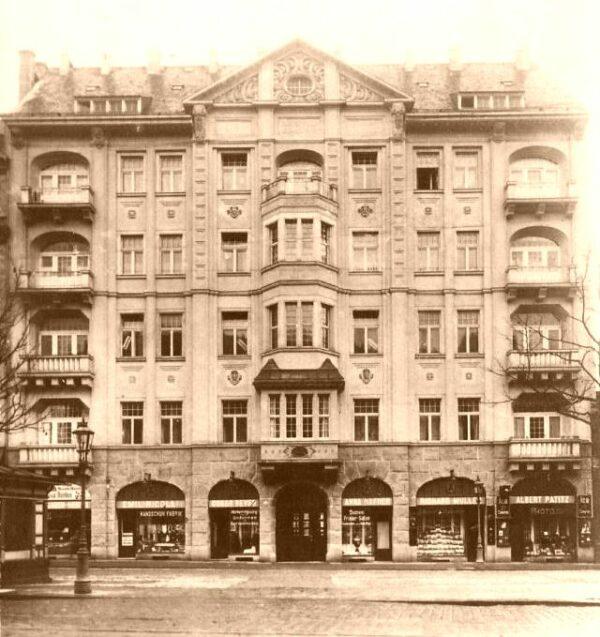 Bautzner Straße 14 vor rund 100 Jahren.