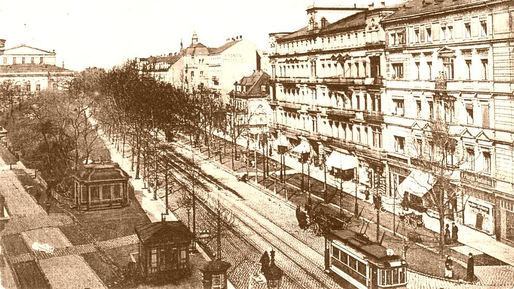 Blick auf die Bautzner Straße vor rund 100 Jahren.