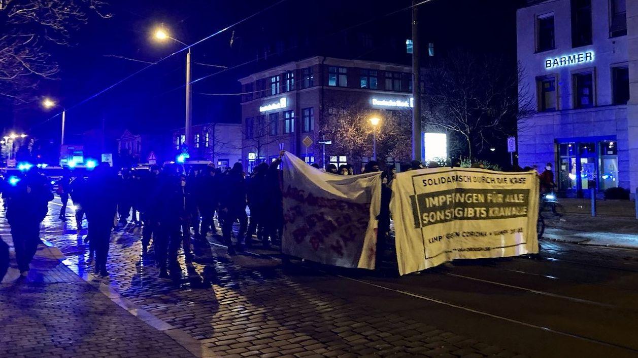 Demo auf der Königsbrücker Straße
