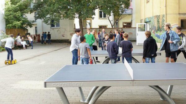 Platz für Spiel und Sport im Hof