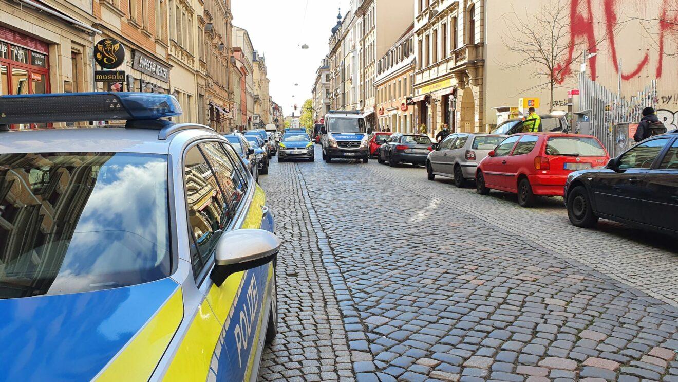 Polizeieinsatz auf der Louisenstraße