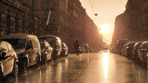 Regen in der Louisenstraße