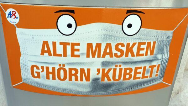 Die Wiener wussten es schon im vergangenen Sommer: Alte Masken gehören in den Müllkübel.