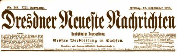 Dresdner Neueste Nachrichten vom September 1913