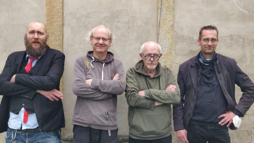 Dissidenten im Dresdner Stadtrat: Max Aschenbach, Johannes Lichdi, Michael Schmelich, Martin Schulte-Wissermann (v.l.) Foto: Piraten-Dresden